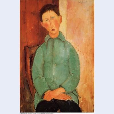 Boy in a blue shirt