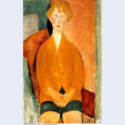 Boy in shorts 1918