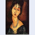 Jeanne hebuterne with necklace 1917