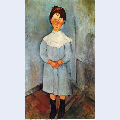Little girl in blue 1918