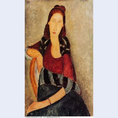 Portrait of jeanne hebuterne 1919