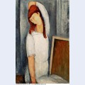Portrait of jeanne hebuterne with her left arm behind her head 1919
