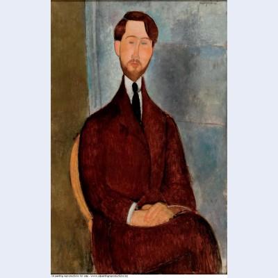 Portrait of leopold zborowski 1917