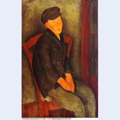 Seated boy with cap 1918