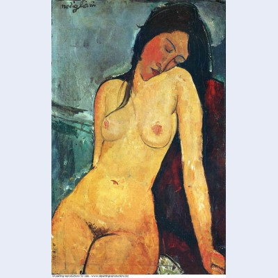 Seated female nude 1916