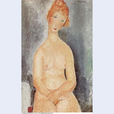 Seated nude 1918