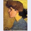 Woman s head in profile 1907