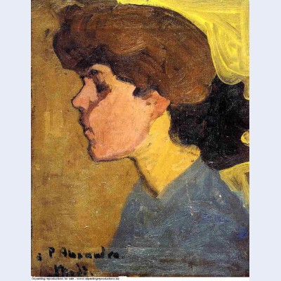 Woman s head in profile 1907