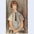 Young girl in a striped shirt 1917
