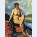 Female nude with a jug
