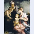 Madonna and child with st elizabeth and st john the baptist