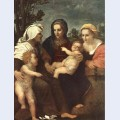 Madonna and child with sts catherine elisabeth and john the baptist