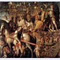 Julius caesar on a triumphal car