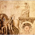 Julius caesar on his triumphal car