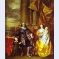 Charles i and queen henrietta maria with charles prince of wales and princess mary