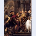 Emperor theodosius forbidden by st ambrose to enter milan cathedral