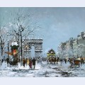 Champs elysees winter