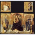 Polyptych with st gregory