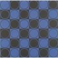 Carre bleu et noir