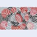Interf rences en rouge et gris no