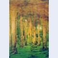 A birch grove spots of sunlight