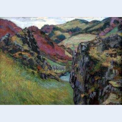 Landscape near saint julien des chazes