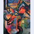 Colored composition hommage to johann sebastian bachh