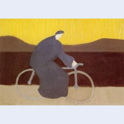Bicycle rider by the loire