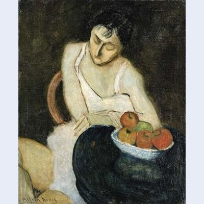 Sally avery with still life