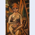 Nude with red turban