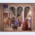 Arrival of st augustine in milan
