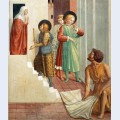 Birth of st francis prophecy of the birth by a pilgrim homage of the simple man detail