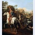 A hussar on horseback
