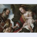 Holy family with st john baptist