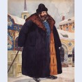 A merchant in a fur coat