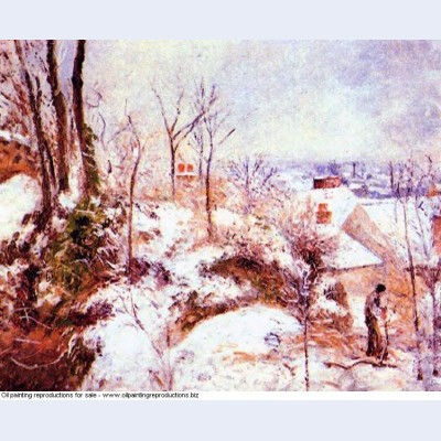 A cottage in the snow 1879