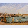 Afternoon sun the inner harbor dieppe 1902