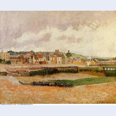 Afternoon the dunquesne basin dieppe low tide 1902