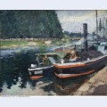 Barges on pontoise 1872