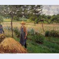 Grey weather morning with figures eragny 1899