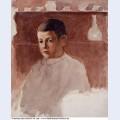 Half length portrait of lucien pissarro