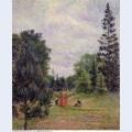 Kew gardens crossroads near the pond 1892