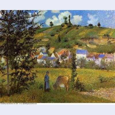 Landscape at chaponval 1880