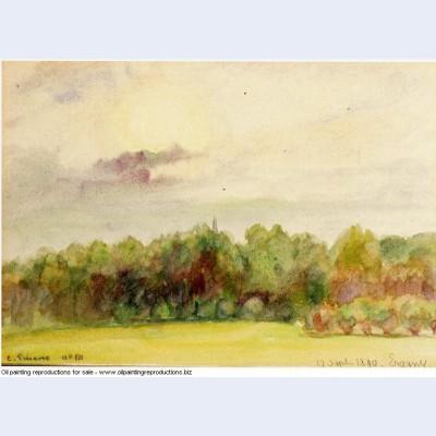 Landscape at eragny 1890