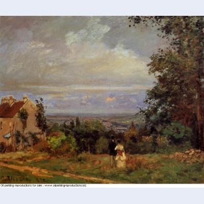 Landscape near louveciennes 1870