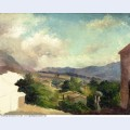 Mountain landscape at saint thomas antilles unfinished