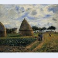 Peasants and hay stacks 1878
