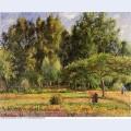 Poplars afternoon in eragny 1899