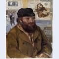 Portrait of paul cezanne 1874