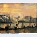 Quay in rouen sunset 1896